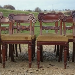 Set of Twelve Regency Dining Chairs