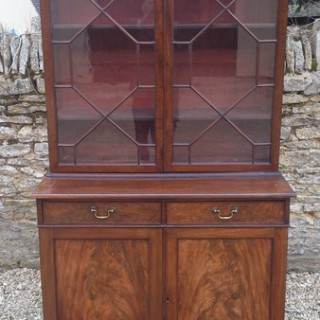 Small Bookcase With Flame Mahogany doors
