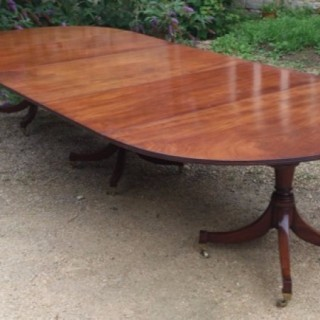 Three Pillar Antique Dining Table