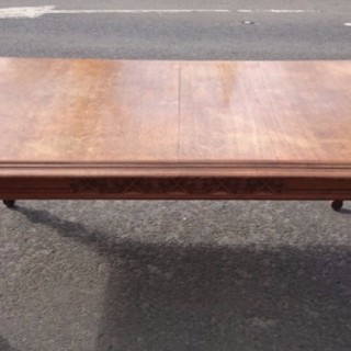 Victorian Gothic Oak Dining Table