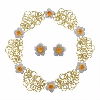 Buccellati Citrine Gold Set