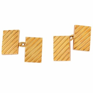 Mellerio Paris Reeded Gold Cufflinks
