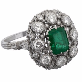 Buccellati Emerald Diamond Ring