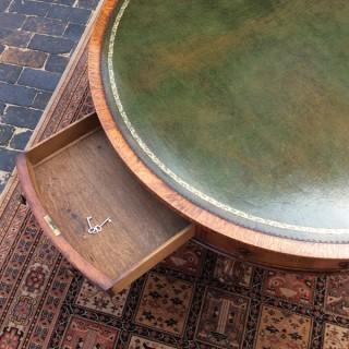 Antique William 1V Oak Drum Library Table