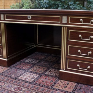 Antique French Directoire Pedestal Desk