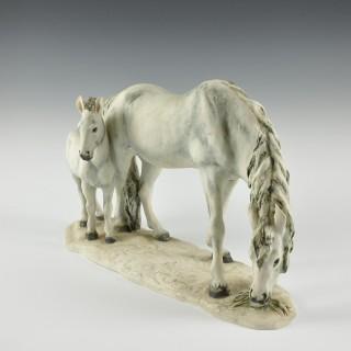 Cacciapuoti horse and foal