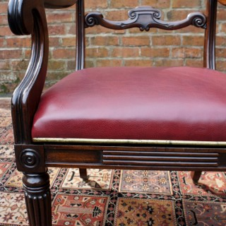 Antique Georgian Mahogany Desk Chair or Armchair