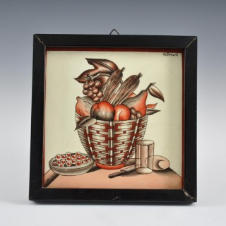 Fruit bowl plaque by Gio Ponti