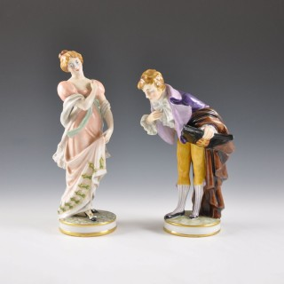 Pair of Ginori figures