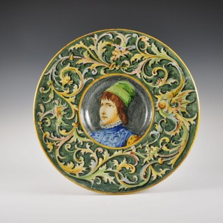 Majolica charger by Minghetti