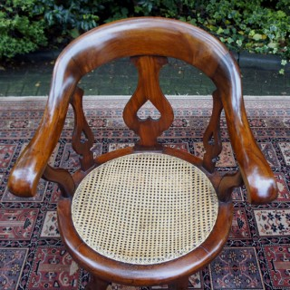 Antique Mahogany Swivel Seat Desk Chair