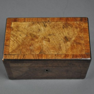 Rectangular Walnut Tea Caddy