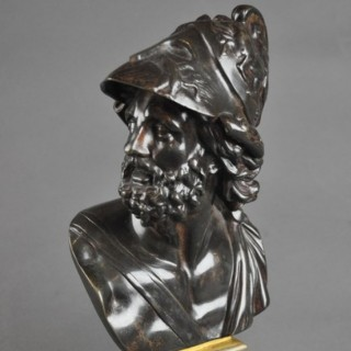 11 inch Bronze Bust of Ajax