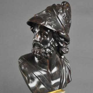 11 inch Bronze Bust of Ajax
