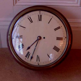 Wall Clock: Early 19th Century Fusee Dial Clock