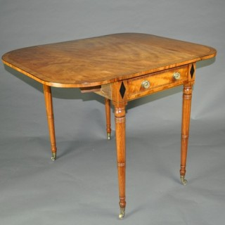 Sheraton period satinwood Pembroke Table