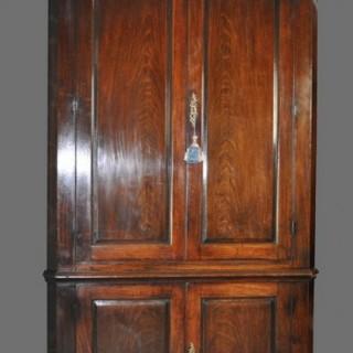 Mid 18th Century Mahogany full-height Corner Cupboard