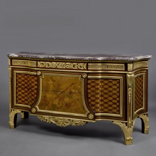 Louis XVI Style Commode After a Model by Jean Henri Riesener