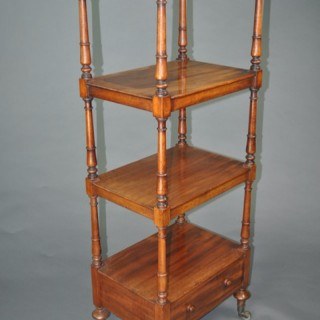 An early 19th century four-tier Whatnot