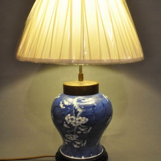Blue and white Chinese Porcelain lamp
