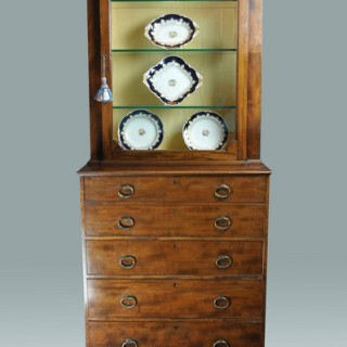 Gillows Secretaire Display Cabinet