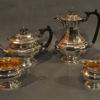 Four Piece Silver Tea Set
