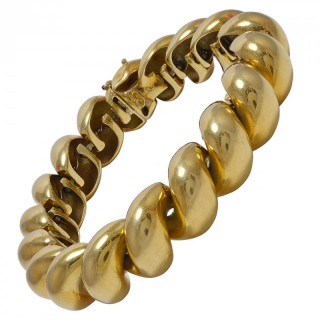 A Sensuous and Tactile Gold Rope Bracelet