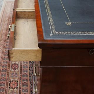 Large Antique Georgian Mahogany Partners Desk