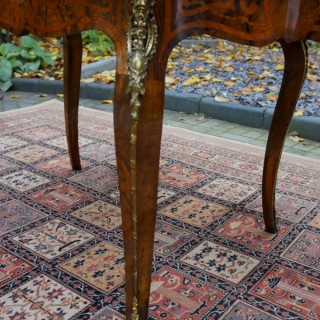 Antique French Style Marquetry and Parquetry Table or Bureau Plat