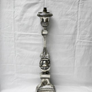 Antique Belgian Silver Candlestick