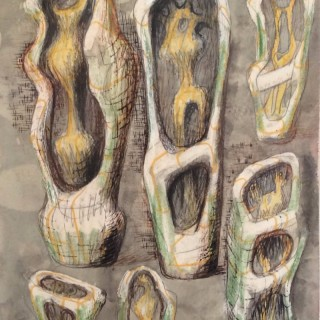 Henry Moore, Ideas for Upright/External Forms, 1948