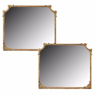Pair of Continental Gilt Overmantel Mirrors
