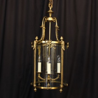 A Large French Gilded Bronze Antique Lantern
