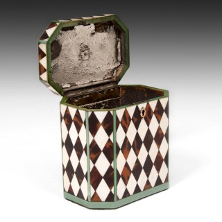 Harlequin Tea Caddy