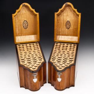 Pair of Satinwood Cutlery Boxes