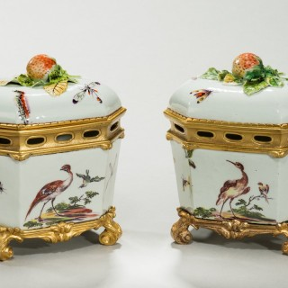Ormolu mounted butter tubs
