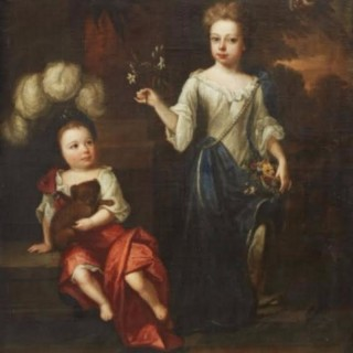Robert Byng (Wiltshire 1666-1720 Oxford)  Portrait of Two Children