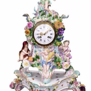 19th Century Meissen Porcelain Clock