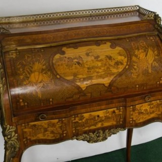 French 19th Century Marquetry bureau de dame
