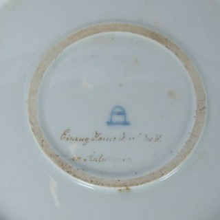 Large 19th Century Vienna Porcelain Charger