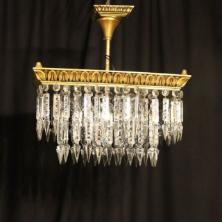An Italian Gilded 4 Light Antique Chandelier