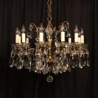An Italian Gilded 10 Light Antique Chandelier