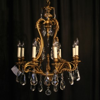 An Italian Gilded 6 Light Antique Chandelier