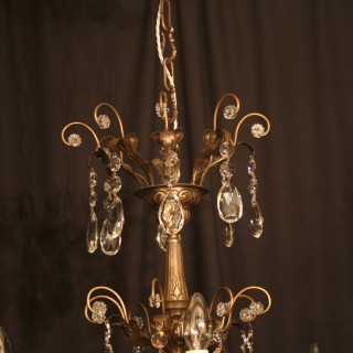 An Italian Genoa 8 Light Antique Chandelier