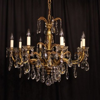 An Italian Bronze 8 Light Antique Chandelier