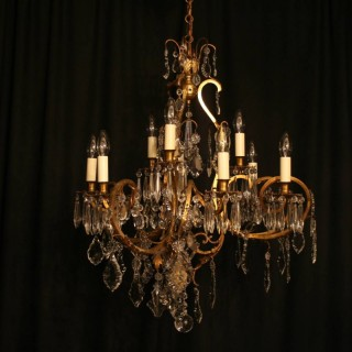 A French Cage 9 Light Antique Chandelier
