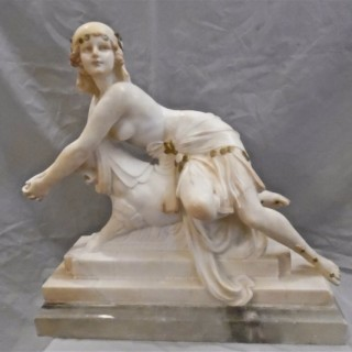 Reclining Girl by C. Cipriani