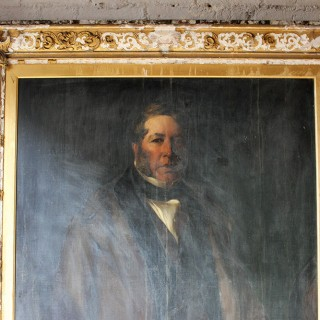 A Fine c.1854 English School Portrait of Philip Williams (b.1798) of Wednesbury Oak Ironworks by John Calcott Horsley RA (1817-1903)