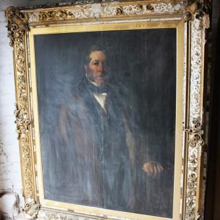 A Fine c.1854 English School Portrait of Philip Williams (b.1798) of Wednesbury Oak Ironworks by John Calcott Horsley RA (1817-1903)