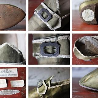 A Glorious 18thC Silk Ladies Shoe c.1730-55